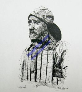 Lifeboatman Portrait in Inks series by Martin Conway