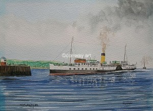 Talisman at Millport. A watercolour by Martin Conway