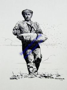The Sower Portrait in Inks series by Martin Conway
