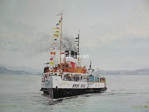 Waverley on the Clyde. A watercolour by Martin Conway